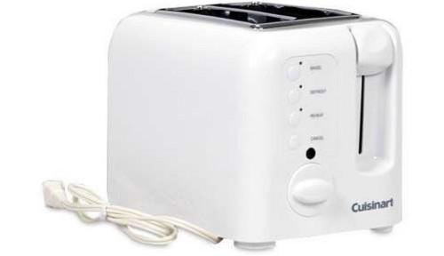 Cuisinart Cpt 120 Compact Cool touch 2 slice Toaster White