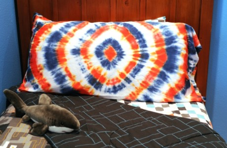 tie-dyed pillow case