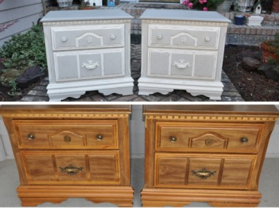 painted night stands before and after